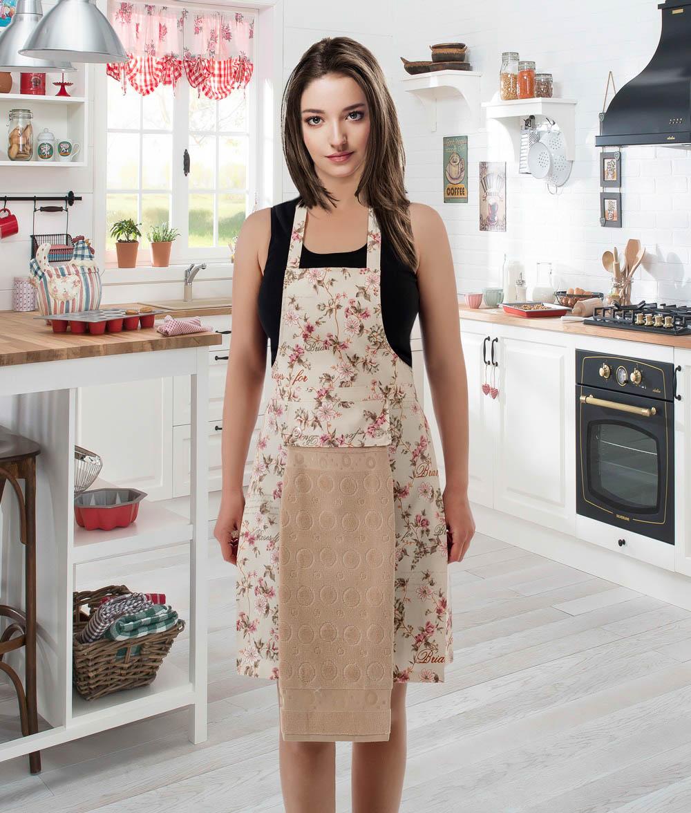 Полотенца Karna Кухонный набор Jools Цвет: Бежевый