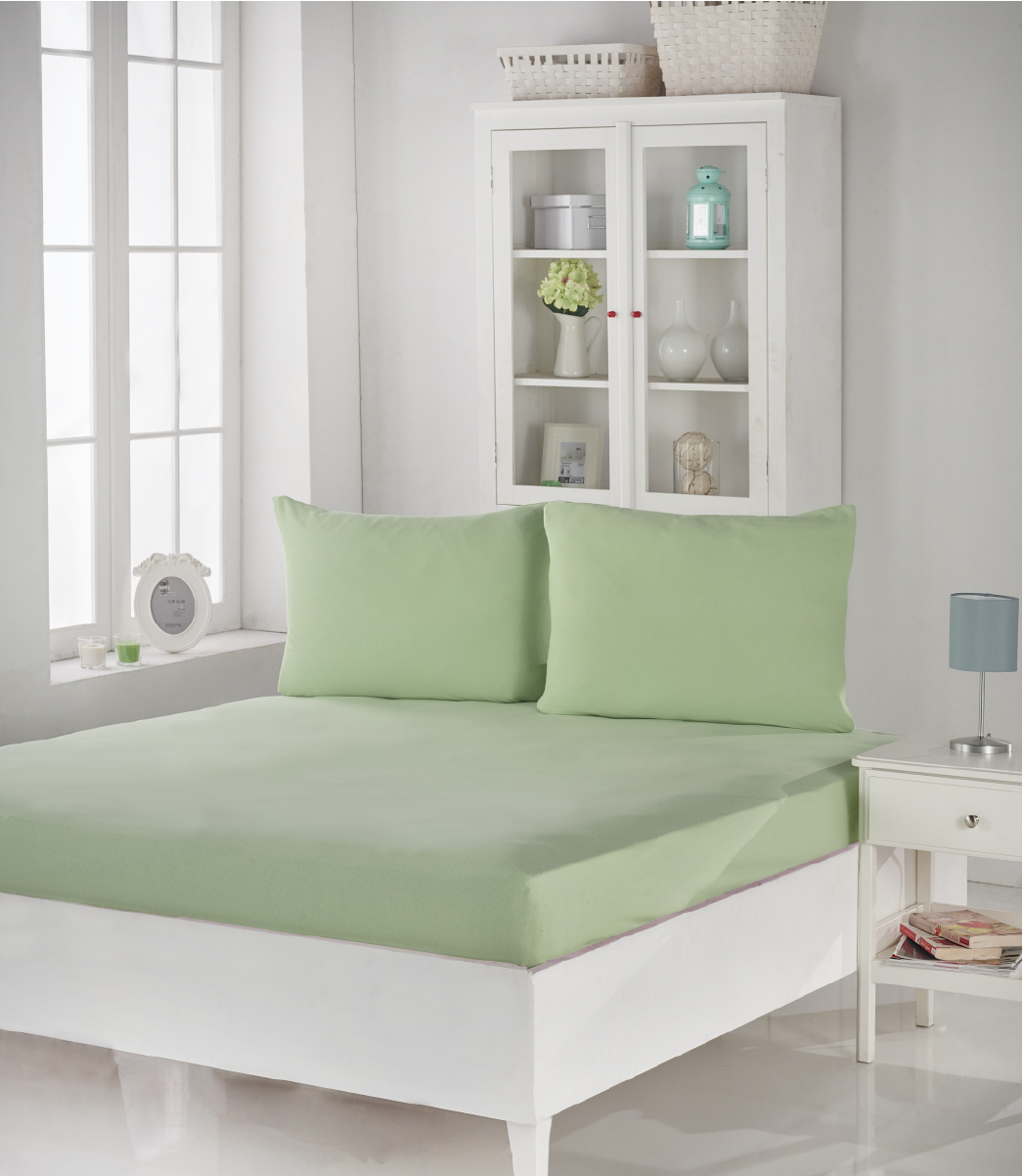 Купить Простыни Karna, Простыня на резинке Acelya Цвет: Светло-Зеленый (180х200), Турция, Хлопковый трикотаж