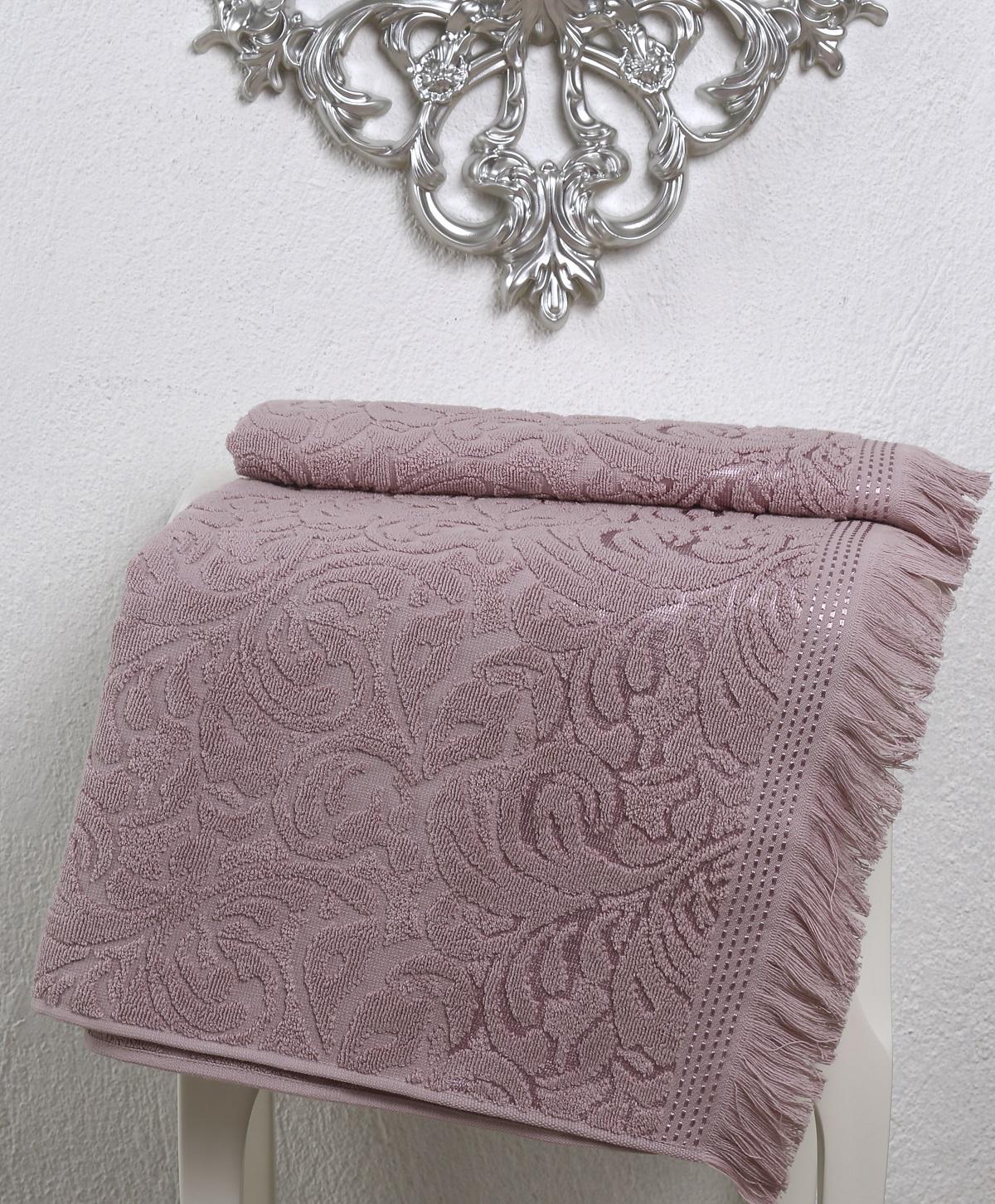 Купить Полотенца Karna, Полотенце Esra Цвет: Грязно-Розовый (90х150 см), Турция, Махра