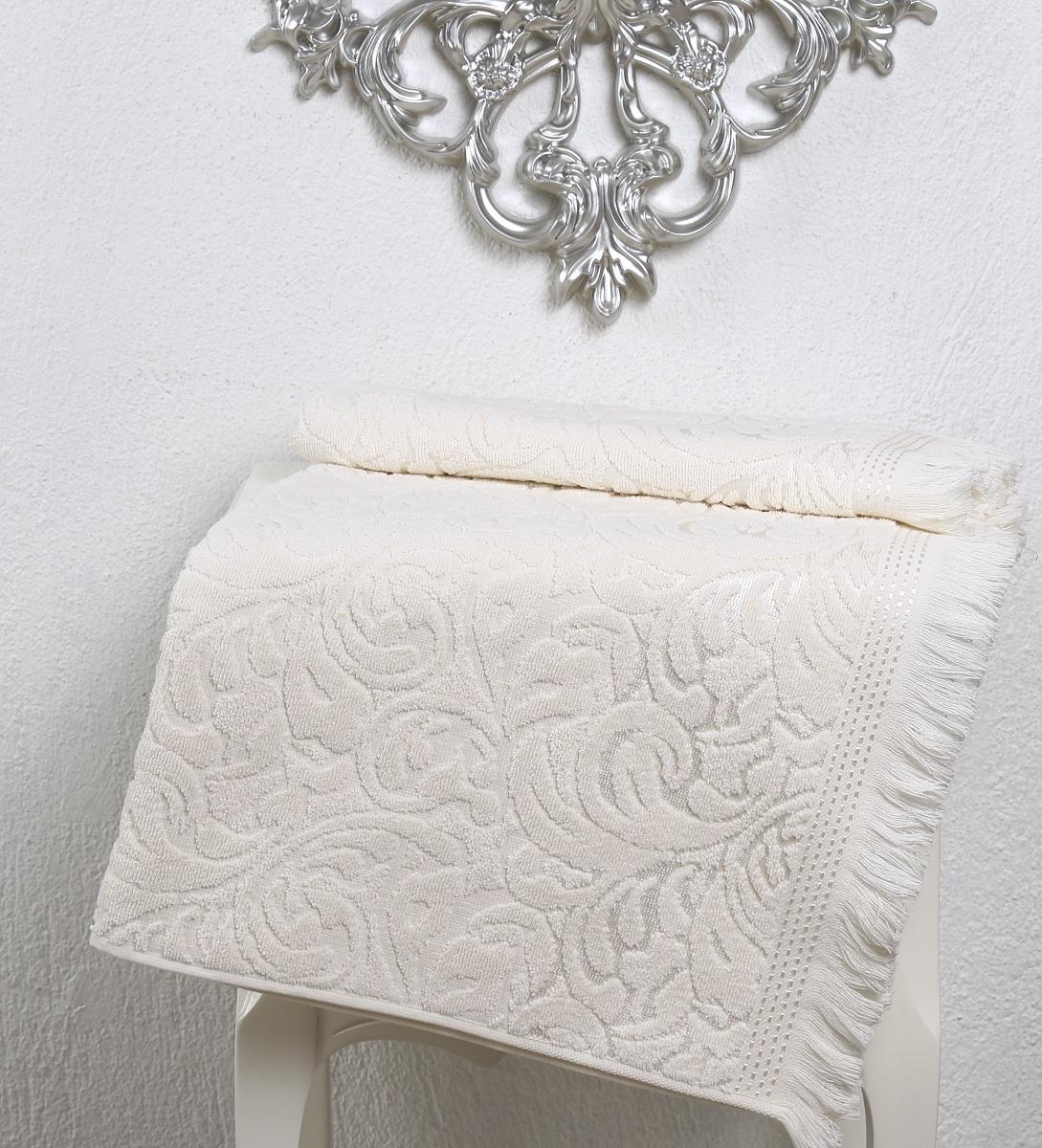 Купить Полотенца Karna, Полотенце Esra Цвет: Кремовый (90х150 см), Турция, Махра