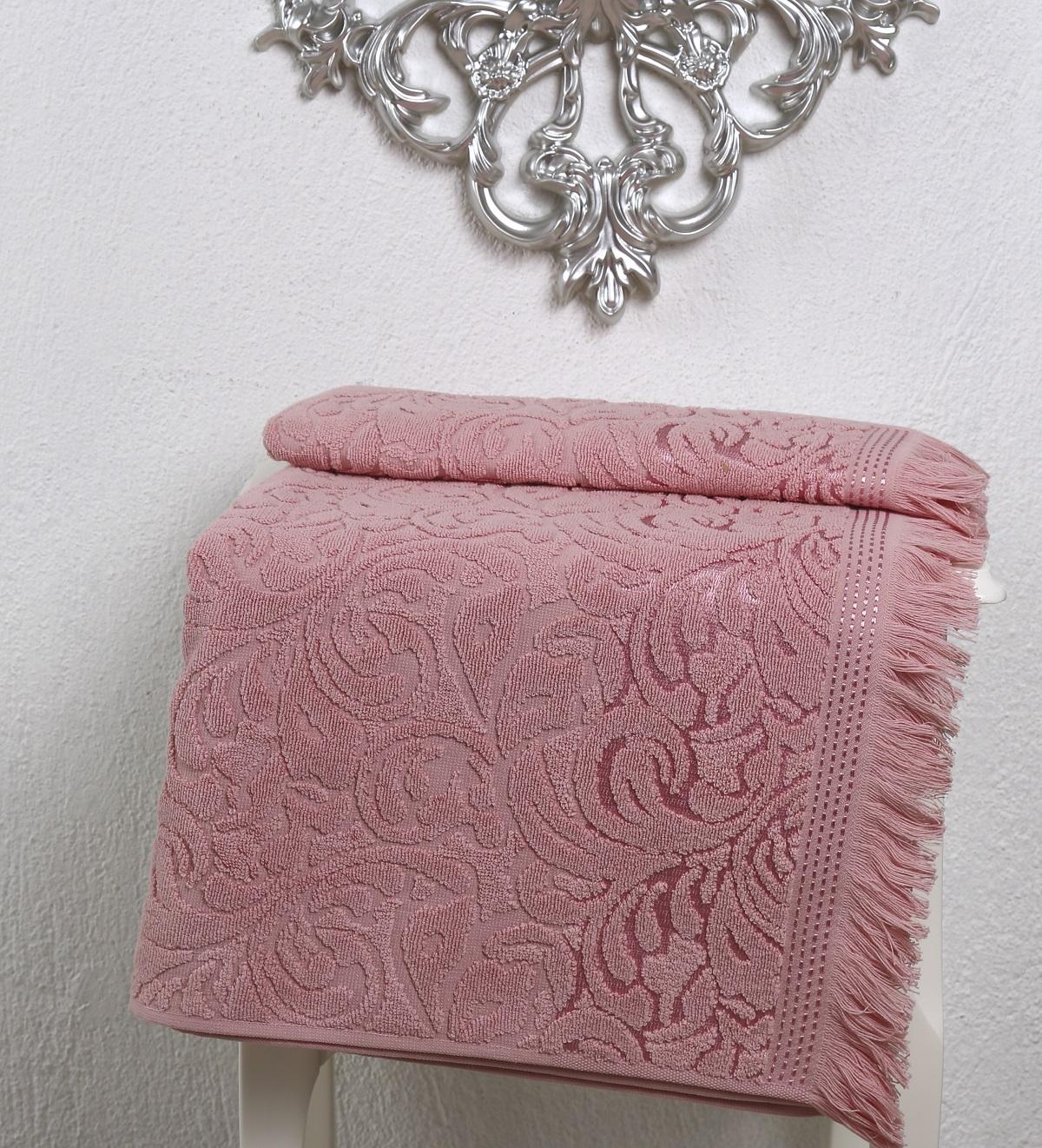 Купить Полотенца Karna, Полотенце Esra Цвет: Розовый (90х150 см), Турция, Махра