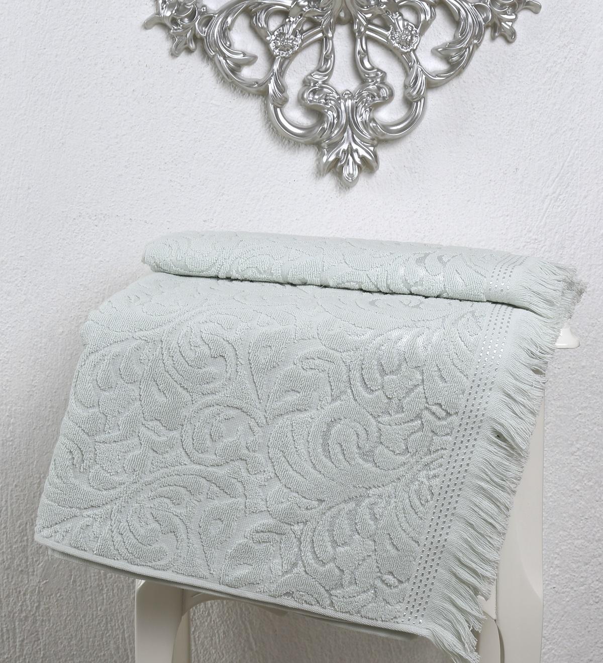 Купить Полотенца Karna, Полотенце Esra Цвет: Светло-Зеленый (90х150 см), Турция, Махра
