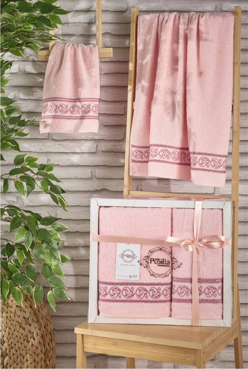 Полотенца Pupilla Набор из 2-х полотенец Dream Цвет: Светло-Розовый (50х90 см, 70х140 см) полотенца pupilla набор из 2 полотенец stil цвет кремовый