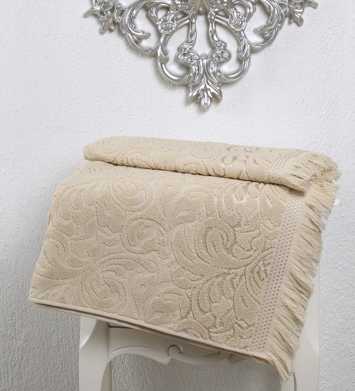 Купить Полотенца Karna, Полотенце Esra Цвет: Бежевый (90х150 см), Турция, Махра