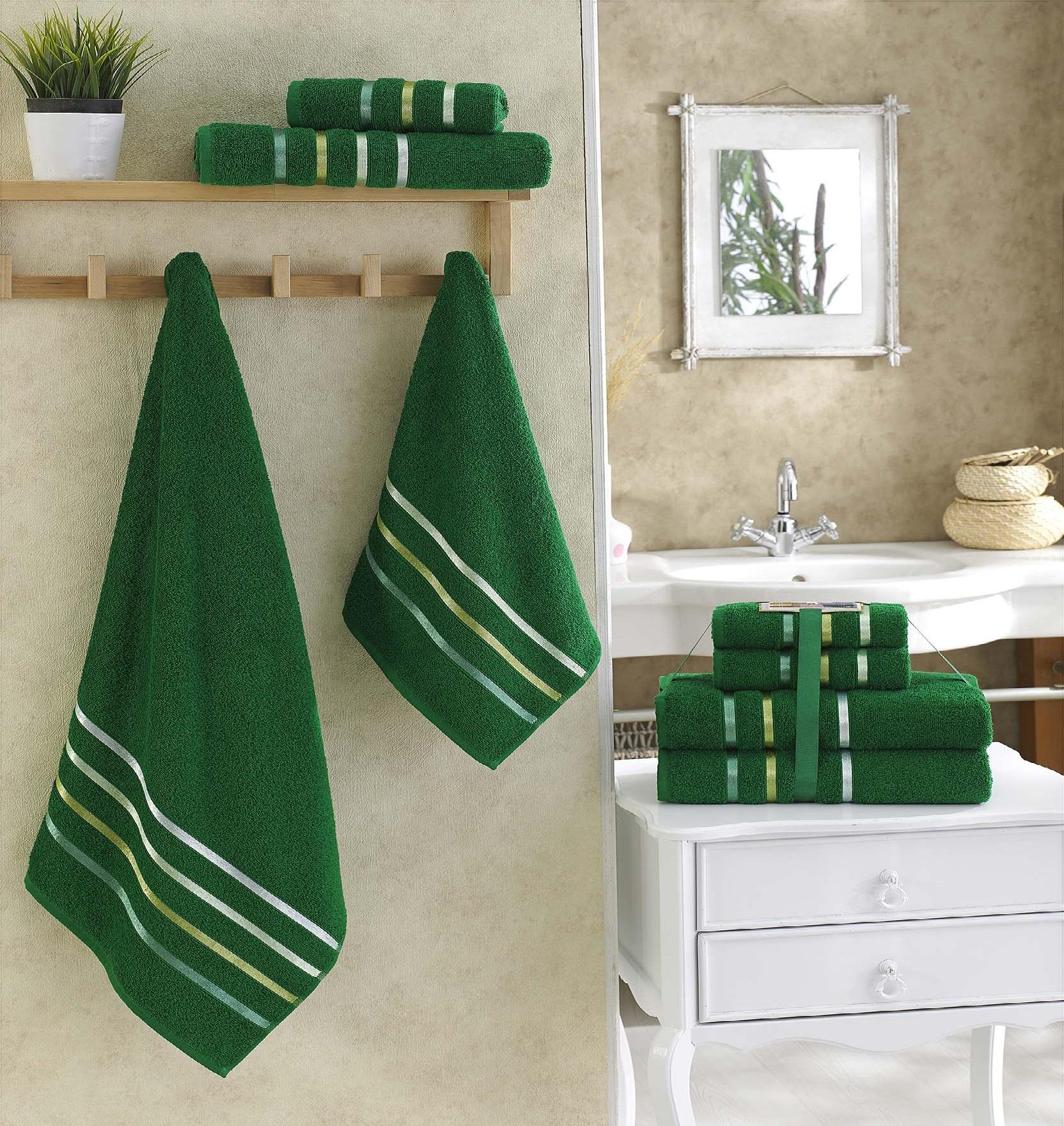 Полотенца Karna Полотенце Bale Цвет: Темно-Зеленый (Набор) полотенца karna полотенце bale цвет розовый набор