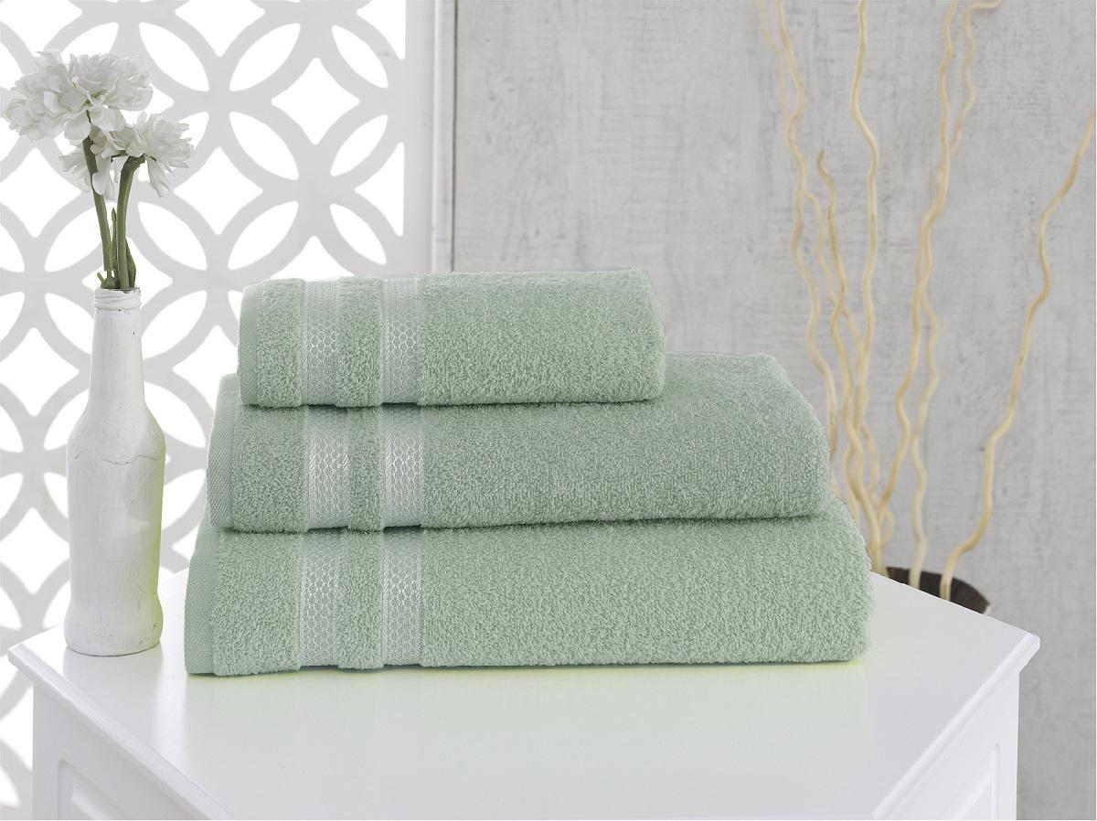Купить Полотенца Karna, Полотенце Petek Цвет: Зеленый (100х150 см), Турция, Махра
