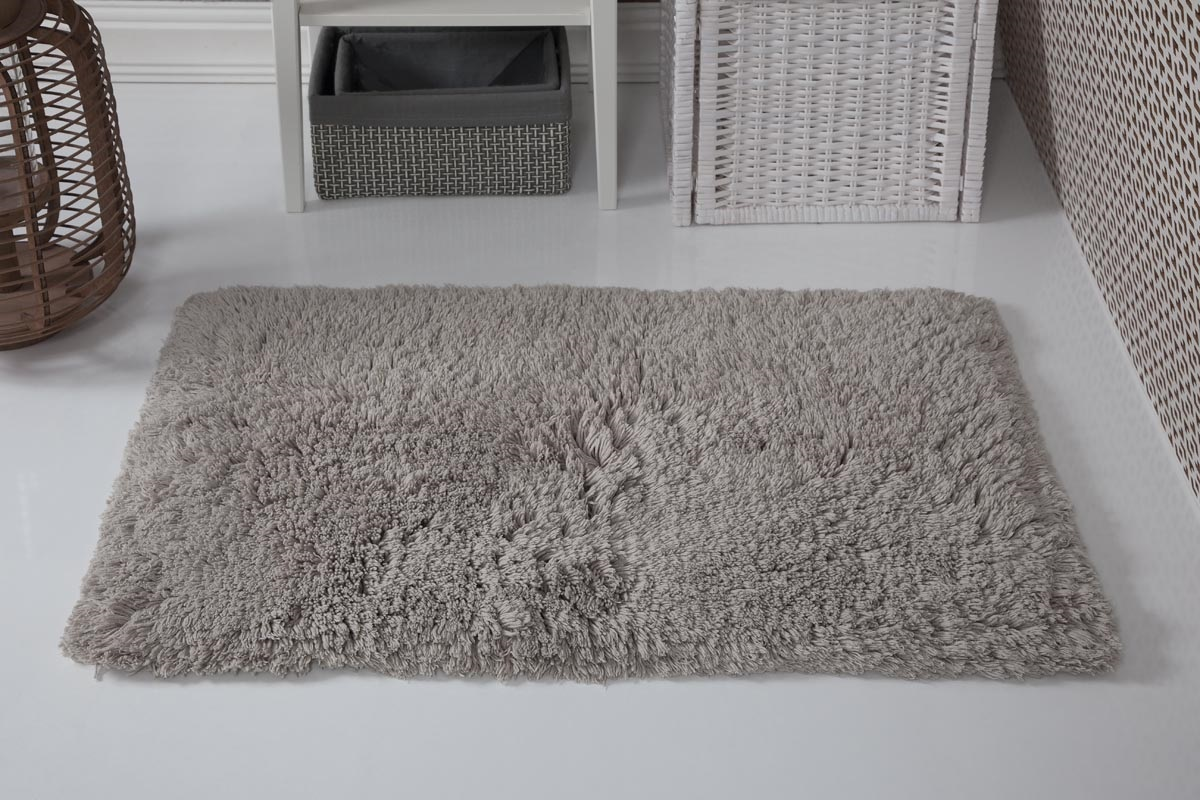 Купить Коврики для ванной и туалета Modalin, Коврик для ванной Boliv Цвет: Натуральный (50х80 см), Россия-Турция, Хлопковая махра