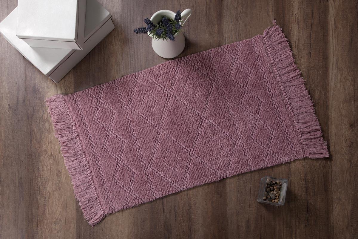 Купить Коврики для ванной и туалета Modalin, Коврик для ванной Lotus Цвет: Сиреневый (50х80 см), Россия-Турция, Хлопковая махра