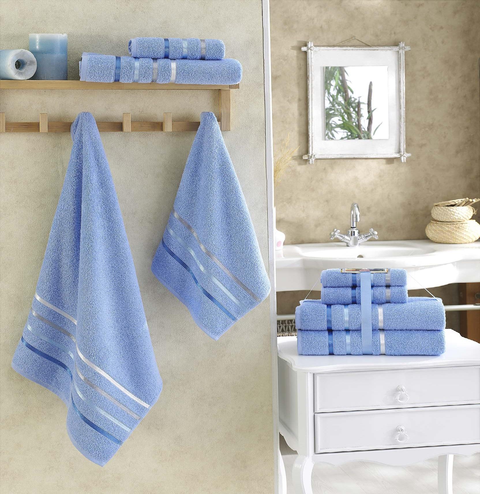 Полотенца Karna Полотенце Bale Цвет: Голубой (Набор) полотенца karna полотенце bale цвет розовый набор