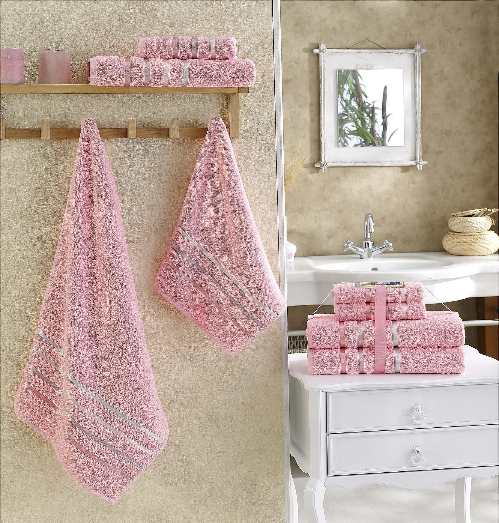 Полотенца Karna Полотенце Bale Цвет: Розовый (Набор) полотенца karna полотенце bale цвет розовый набор