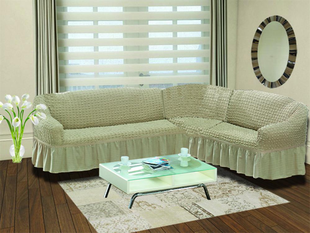 Чехол на диван угловой Цвет: Кофейный