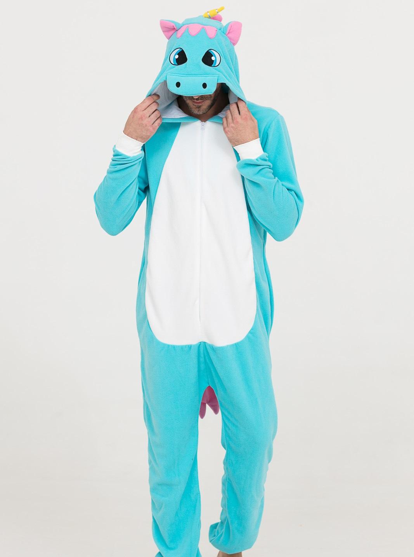 Пижама-кигуруми Бирюзовый Единорог (44-46) фото