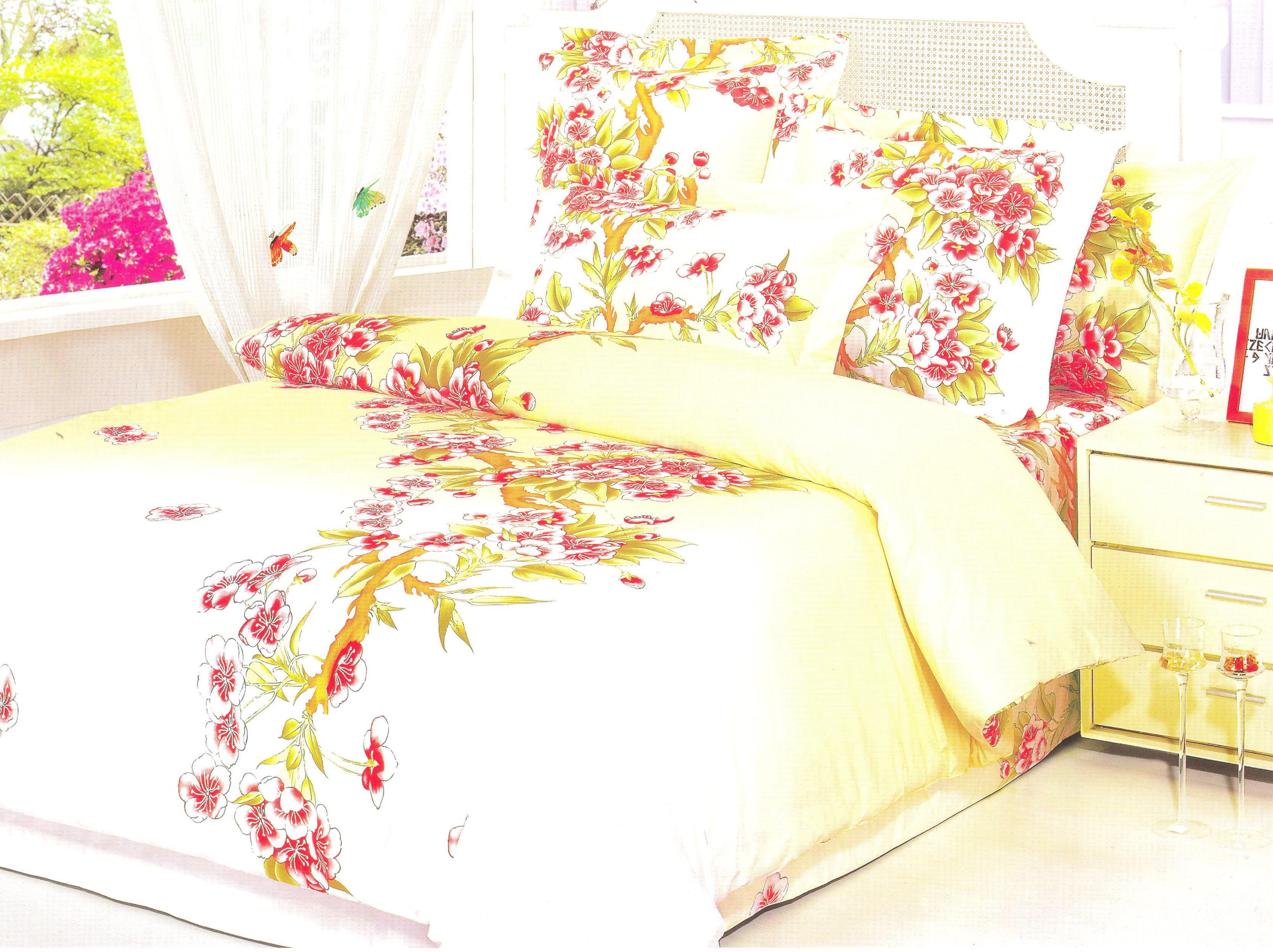 Купить Комплекты постельного белья СайлиД, Постельное белье Lauryn G-33 (2 сп. евро), Китай, Кремовый, Хлопковый сатин