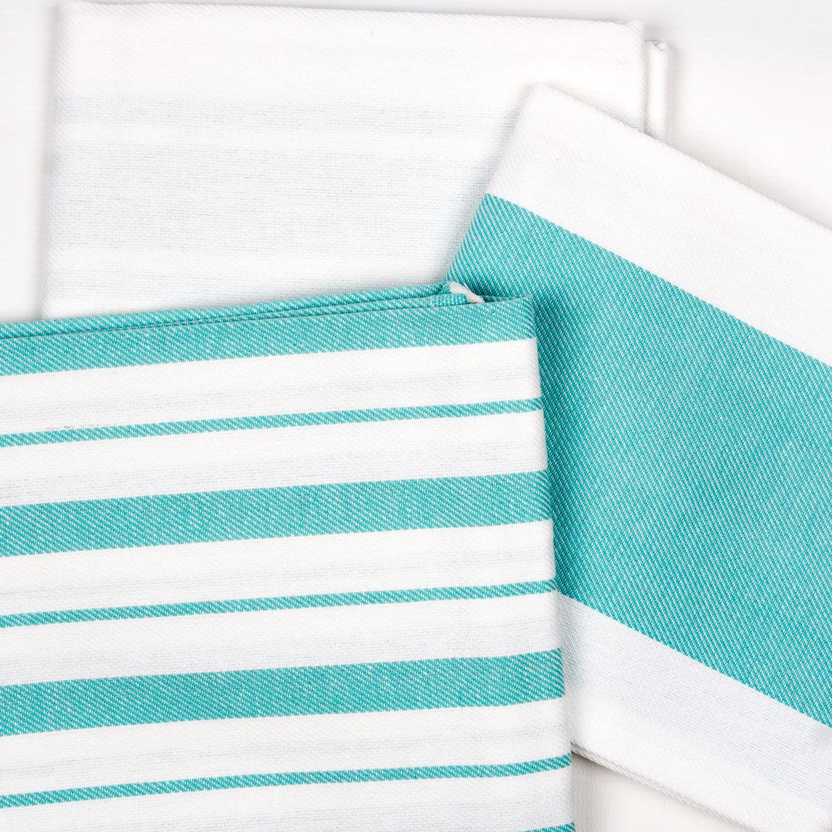 Купить Полотенца Arya, Кухонное полотенце Gabi Цвет: Синий (50х70 см), Турция, Белый, Желтый, Бязь