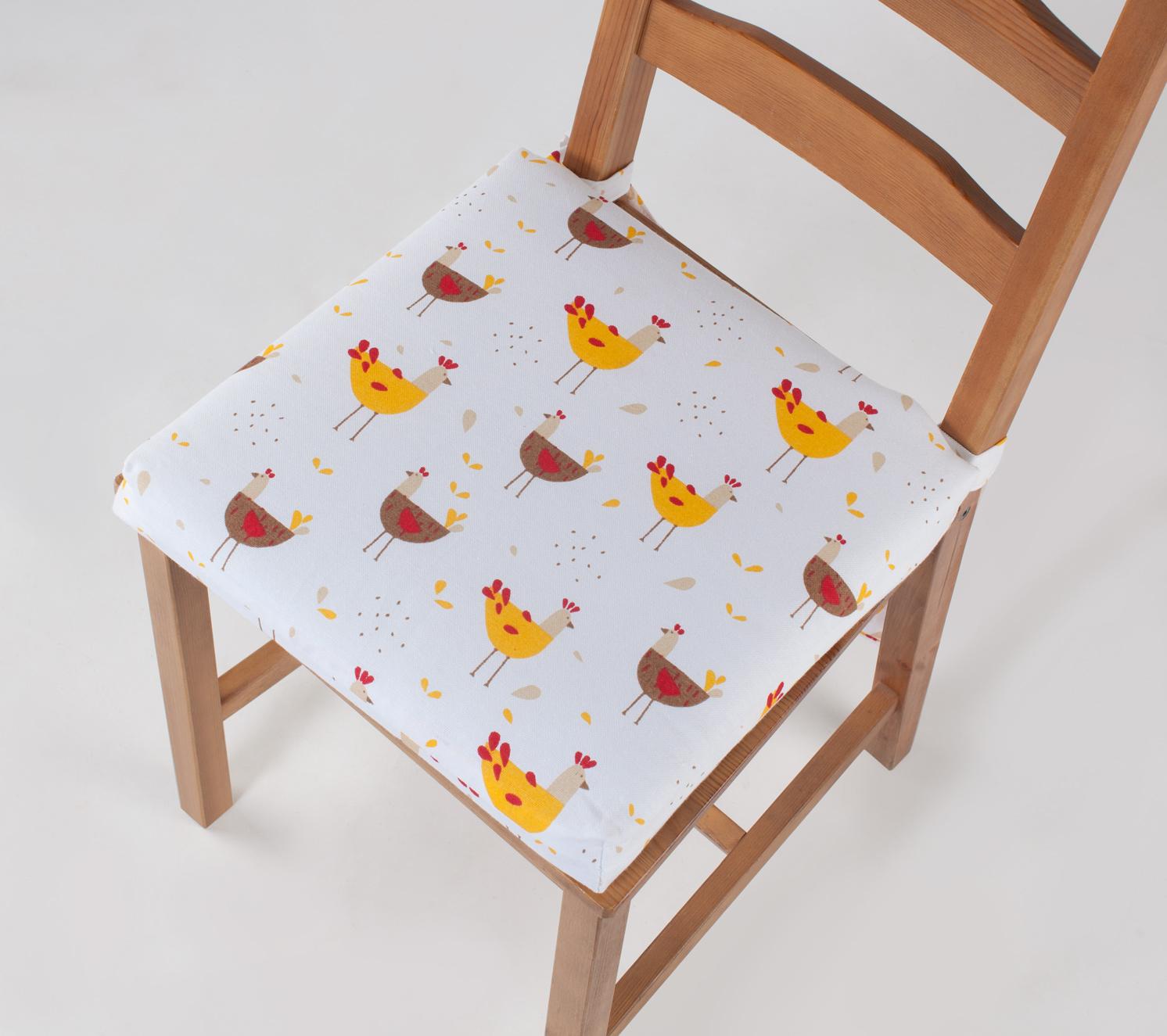 Подушка на стул Курочки (40х40)