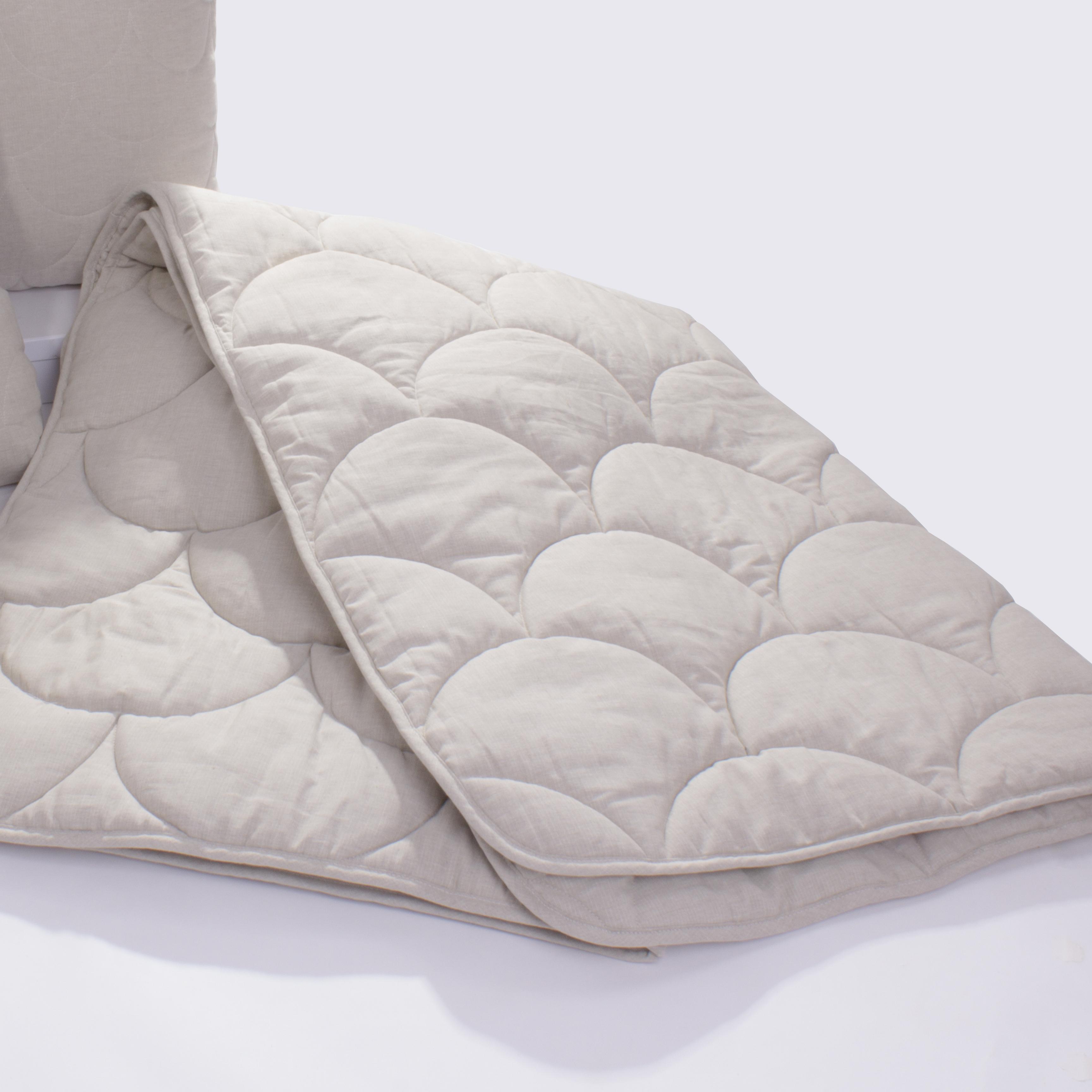 Купить Покрывала, подушки, одеяла AlViTek, Детское одеяло Лен Легкое (105х140 см), Россия, Кремовый, Полулен