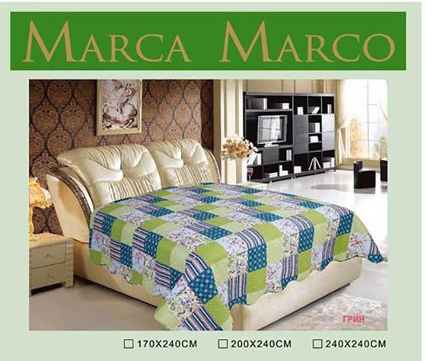 Пледы и покрывала MАRCA MARCO Покрывало Грин (170х240 см) покрывало mаrca marco покрывало эгль 170х240 см