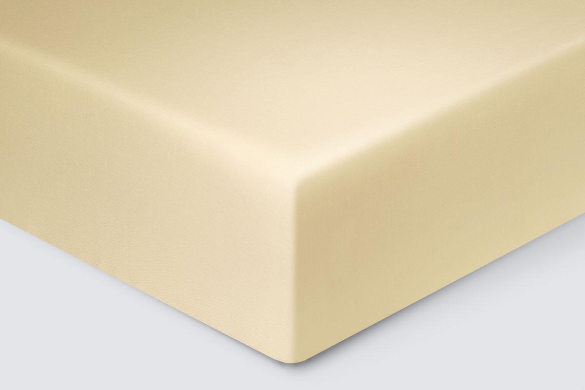 Простыня на резинке Marlen цвет: кремовый (90х200)