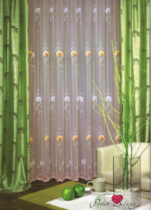 Купить Шторы Haft, Классические шторы Amabel Цвет: Оливковый, Польша, Зеленый, Жаккард, Вуаль