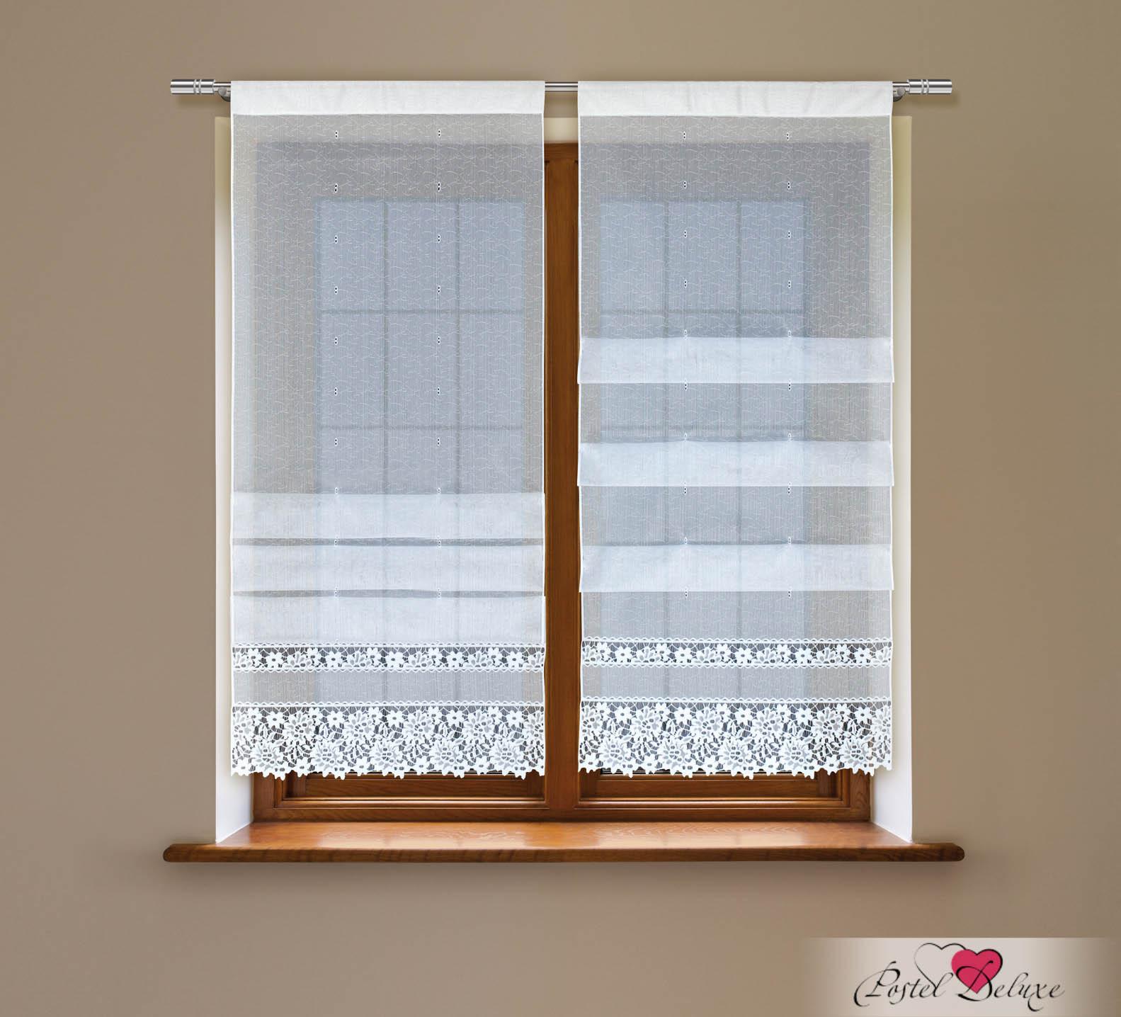 Купить Римские и рулонные шторы Haft, Римские шторы Beelzebub Цвет: Белый, Польша, Тюль