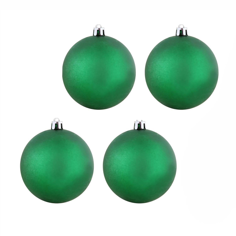 {} Елочные шарики Claire Цвет: Зеленый (10 см - 4 шт)