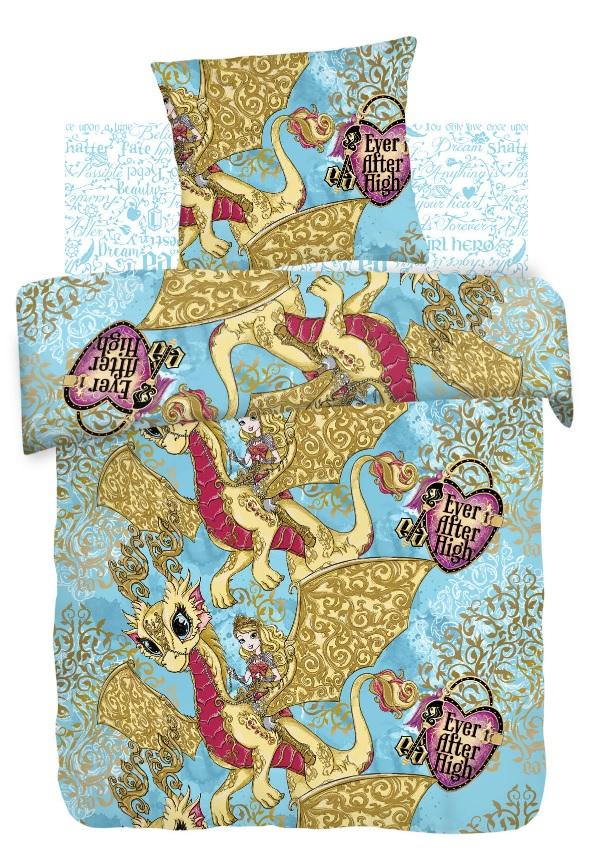 Купить Детское постельное белье Непоседа, Детское Постельное белье Игры Драконов (143х215 см), Россия, Голубой, Желтый, Бязь
