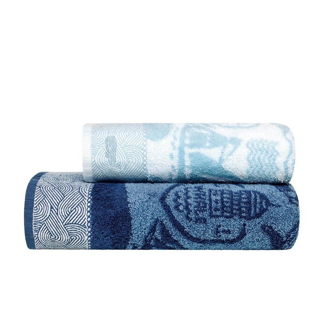 Купить Полотенца Togas, Детское полотенце Морские Приключения Цвет: Белый-Голубой (70х130 см), Греция, Голубой, Синий, Махра
