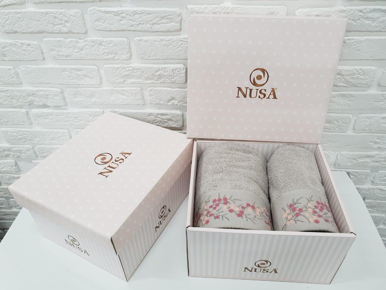 Купить Полотенца Nusa, Полотенце Melania Цвет: Бежевый (50х90 см, 70х140 см), Турция, Махра