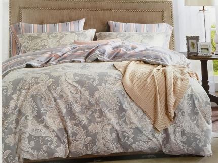 Купить Комплекты постельного белья DO'n'CO, Постельное белье Sardunya (2 сп. евро), Турция, Розовый, Серый, Хлопковый сатин