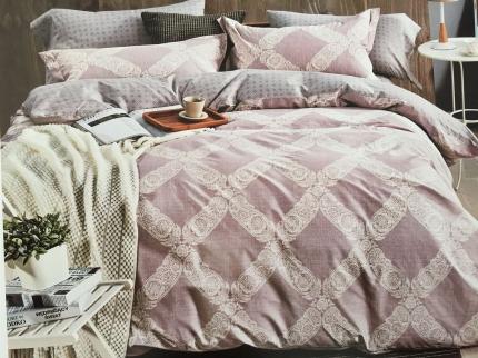 Купить Комплекты постельного белья DO'n'CO, Постельное белье Damasco (1, 5 спал.), Турция, Розовый, Серый, Хлопковый сатин