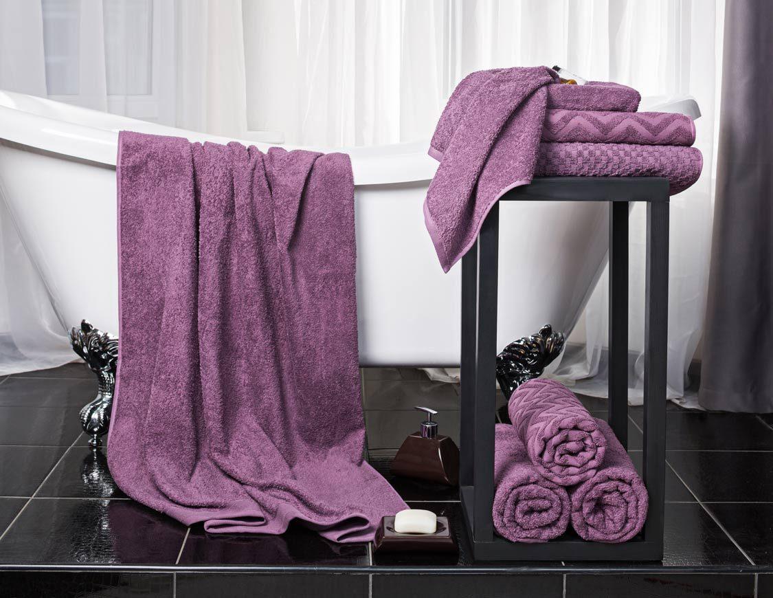 Полотенце Зигзаг цвет: фиолетовый (50х90 см,70х130 см)