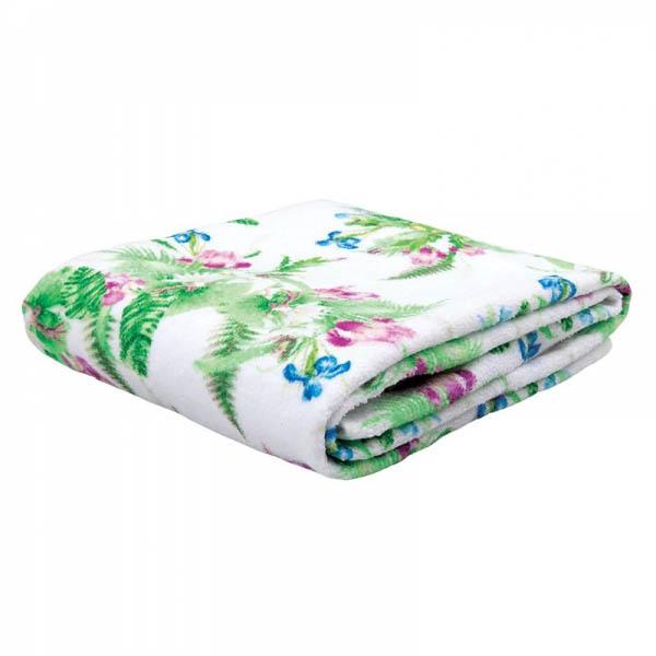 Купить Полотенца Mona Liza, Полотенце Iris (50x90 см), Россия, Белый, Зеленый, Махра, Велюр