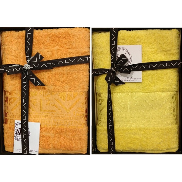 Набор из 2 полотенец Пиола цвет: желтый (40х60 см,60х110 см)