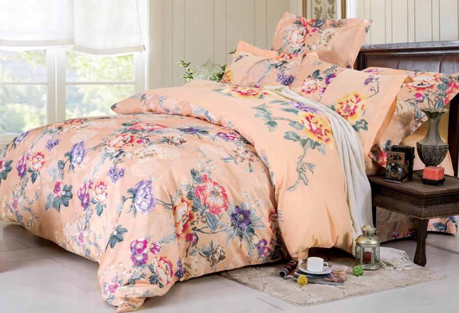 Купить Комплекты постельного белья СайлиД, Постельное белье Doriane D-177 (2 сп. евро), Китай, Хлопковый сатин