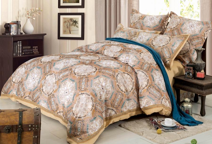 Купить Комплекты постельного белья СайлиД, Постельное белье Zander D-178 (2 сп. евро), Китай, Хлопковый сатин