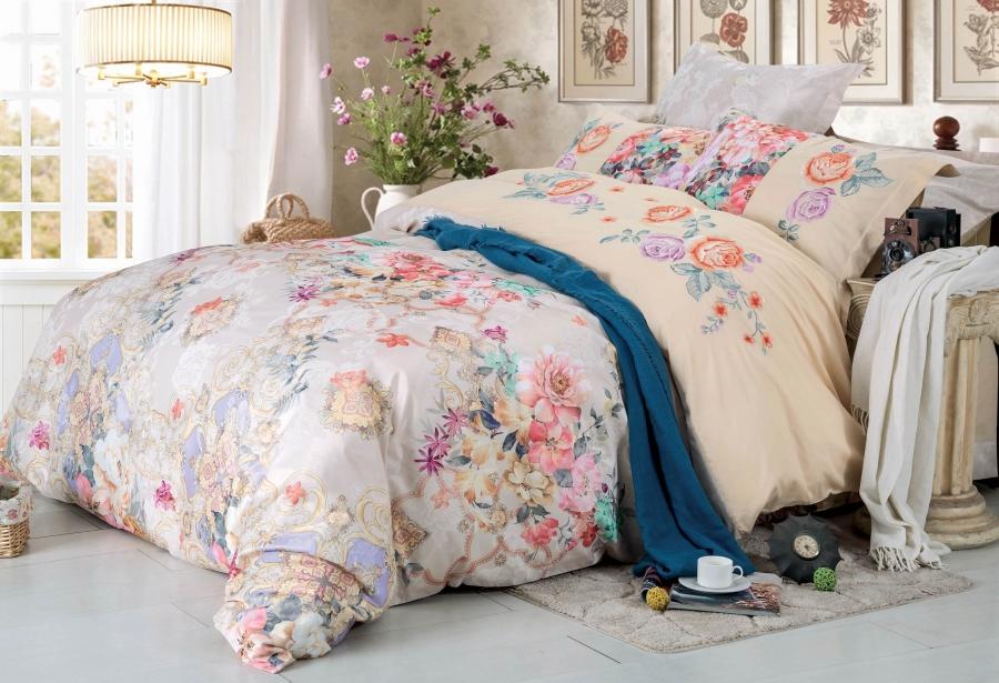 Купить Комплекты постельного белья СайлиД, Постельное белье Killeen D-181 (2 сп. евро), Китай, Хлопковый сатин
