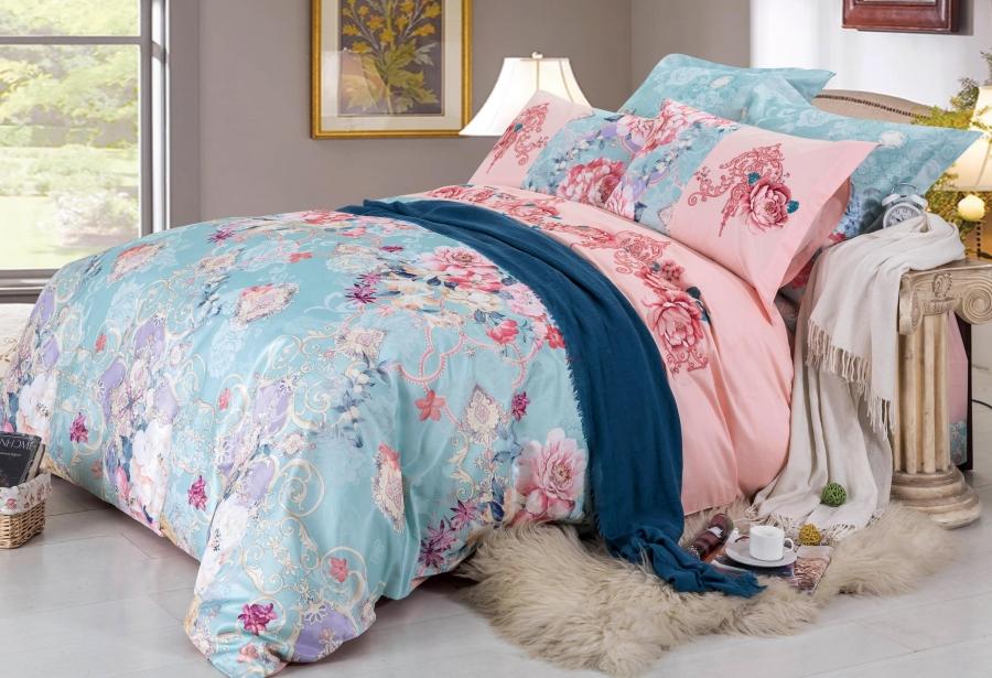 Купить Комплекты постельного белья СайлиД, Постельное белье Kandace D-182 (2 сп. евро), Китай, Хлопковый сатин