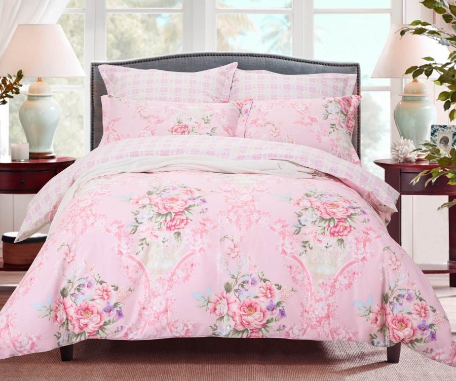 Купить Комплекты постельного белья СайлиД, Постельное белье Ona B-185 (2 сп. евро), Китай, Хлопковый сатин