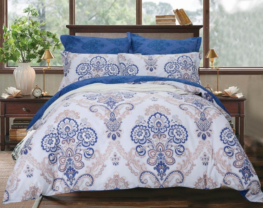 Купить Комплекты постельного белья СайлиД, Постельное белье Alvar B-186 (2 сп. евро), Китай, Хлопковый сатин