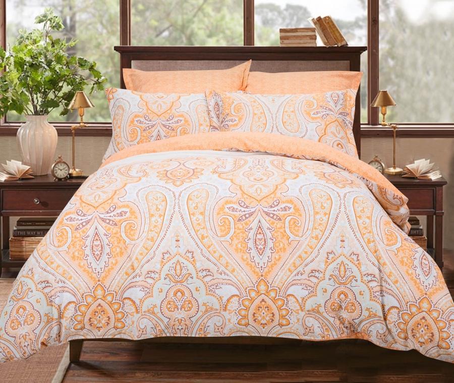 Комплекты постельного белья СайлиД, Постельное белье Priscilla B-187 (2 сп. евро), Китай, Хлопковый сатин  - Купить