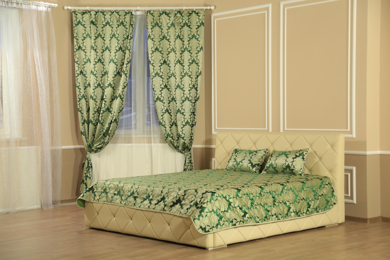 Шторы Marianna Комплект штор с покрывалом Версаль Цвет: Зеленый портьеры garden шторы