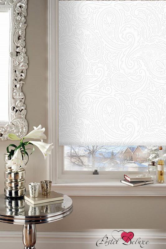 Римские и рулонные шторы Эскар Рулонные шторы Арабеска Люкс Цвет: Белый