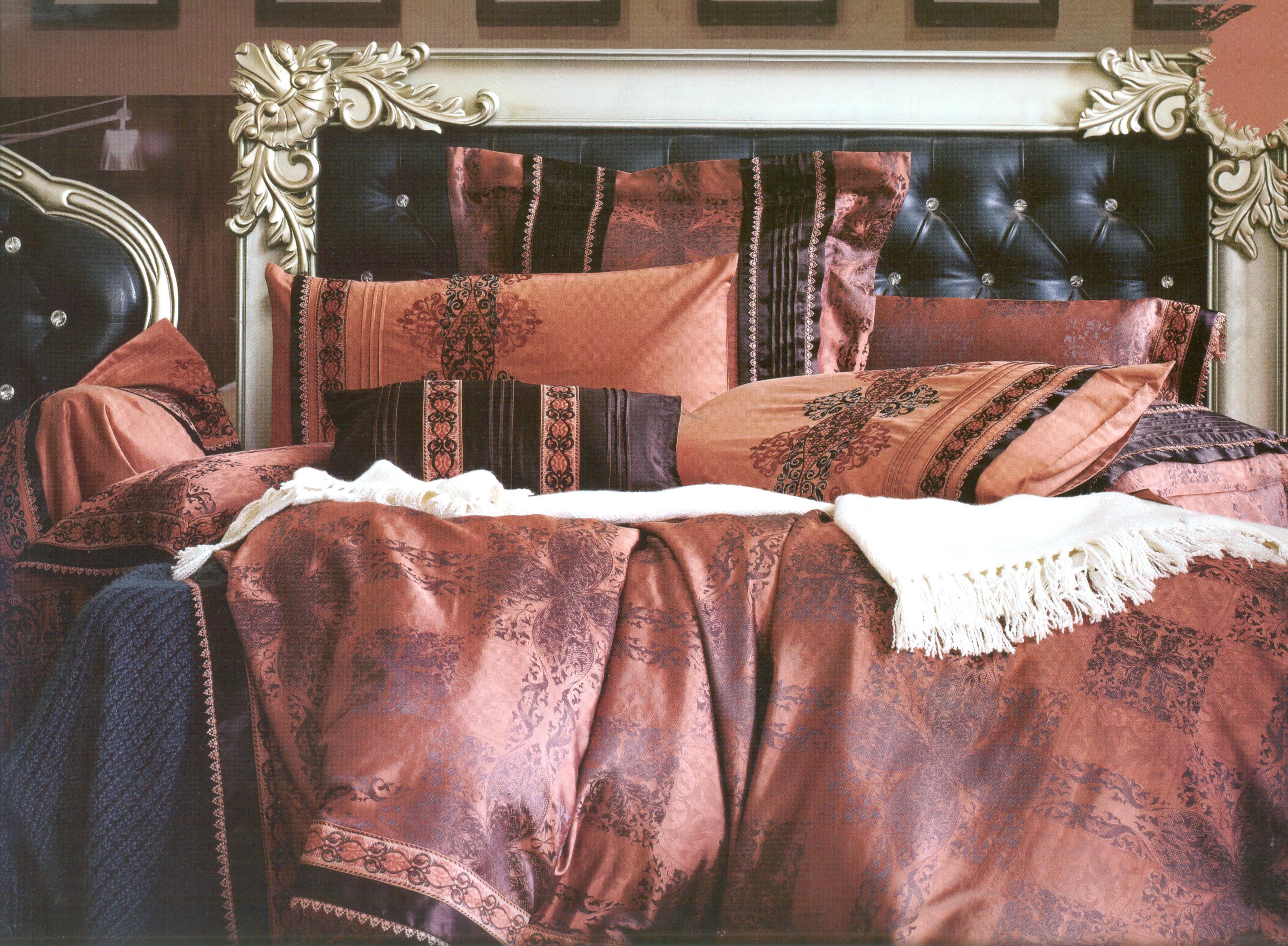 Купить Комплекты постельного белья СайлиД, Постельное белье Loona К-56 (2 сп. евро), Китай, Золотистый, Хлопковый сатин