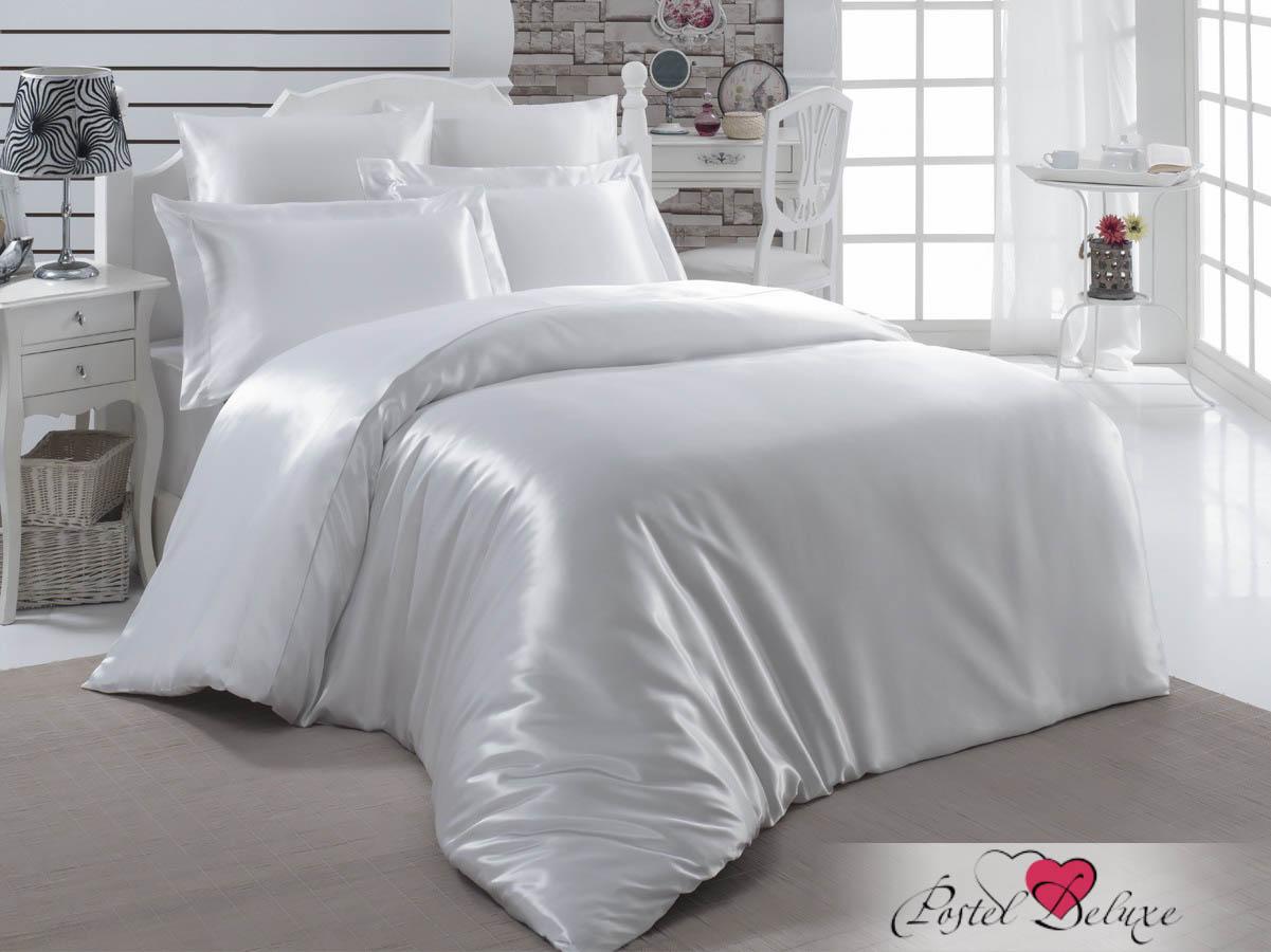 Купить Комплекты постельного белья Karna, Постельное белье Arin Цвет: Белый (2 сп. евро), Турция, Атласный шелк