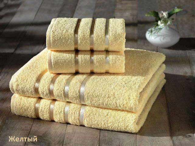 Купить Полотенца Karna, Полотенце Bale Цвет: Желтый (Набор), Турция, Махра