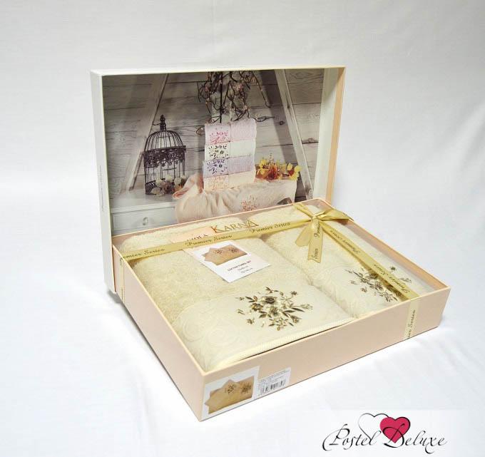 Купить Полотенца Karna, Полотенце Viola Цвет: Капучино (Набор), Турция, Кремовый, Махра