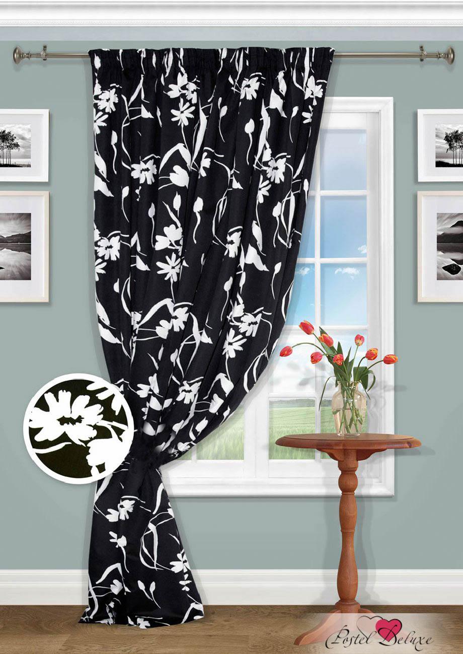 Купить Шторы Kauffort, Классические шторы Aislin, Россия, Черно-белый, Портьерная ткань