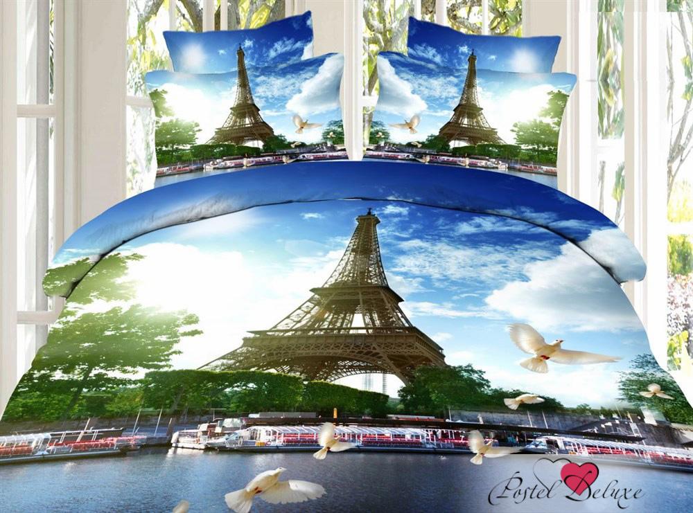 Купить Комплекты постельного белья SEDA, Постельное белье Parizh (2 сп. евро), Китай, Голубой, Хлопковый сатин