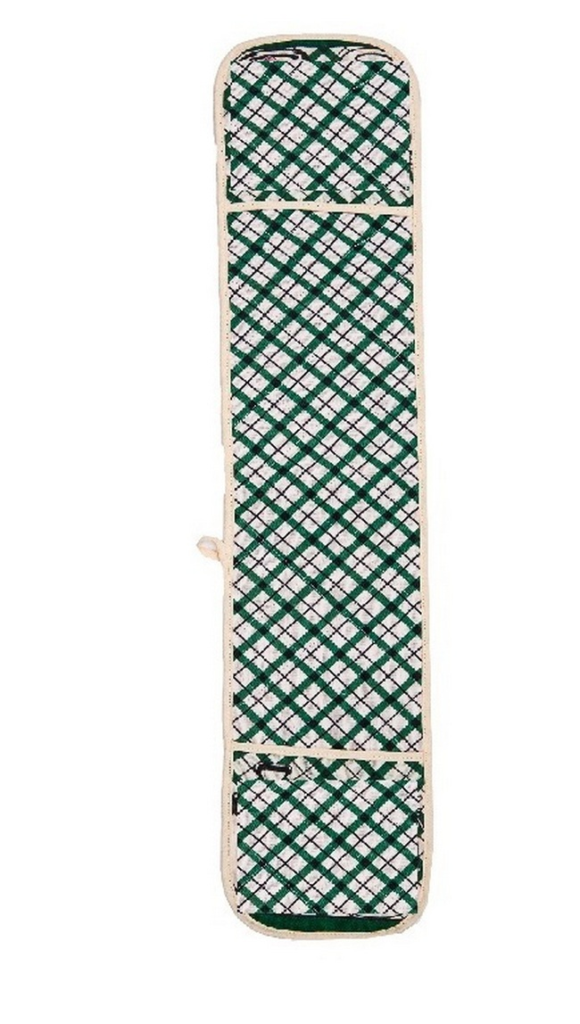 Прихватка Клетка цвет: зеленый (18х90 см)