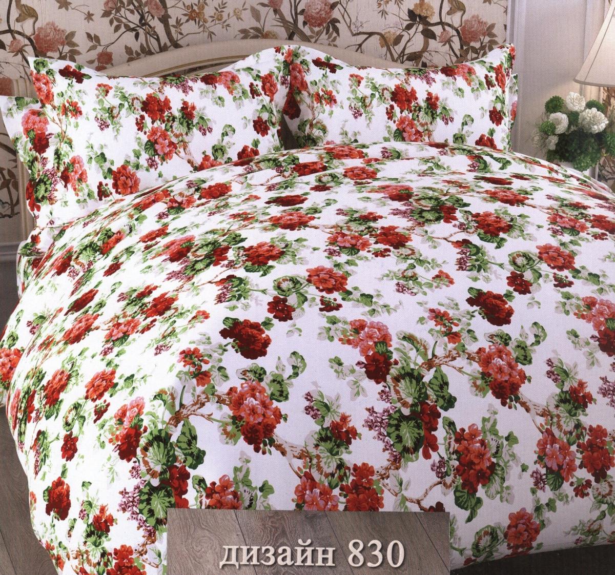 Комплекты постельного белья ТК Хлопковый Рай Постельное белье Герань (семейное)